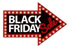 Freccia del segno di vendita di Black Friday Fotografia Stock
