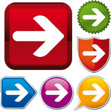 Freccia dell'icona Immagini Stock Libere da Diritti