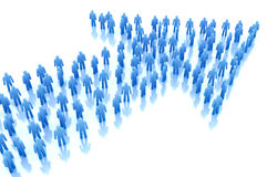 Freccia della gente: concetto di affari. Fotografie Stock Libere da Diritti