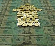 Freccia della moneta Immagini Stock