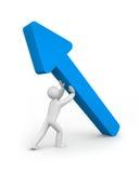 Freccia della stretta della persona illustrazione di stock