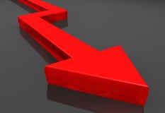 Freccia di affari Immagine Stock Libera da Diritti