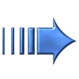 freccia di azzurro 3D Immagini Stock Libere da Diritti