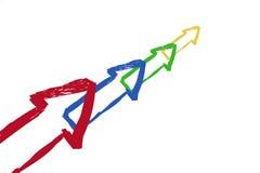 Freccia di colore Immagini Stock Libere da Diritti