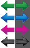 Freccia di colore Fotografia Stock