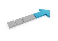 freccia di gray blu 3d alta Fotografia Stock