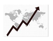 Freccia di /growth del diagramma di affari Fotografie Stock