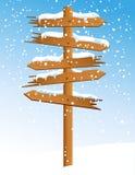 Freccia di inverno con le precipitazioni nevose illustrazione vettoriale