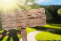 Freccia di legno Immagini Stock