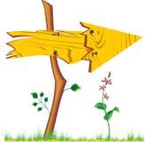 Freccia di legno Fotografia Stock Libera da Diritti