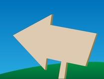 Freccia di legno che indica a sinistra Immagini Stock Libere da Diritti