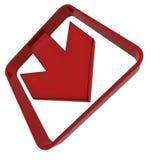 Freccia di plastica rossa royalty illustrazione gratis