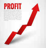 Freccia di profitto Immagine Stock