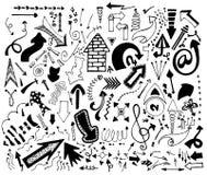 Freccia di scarabocchio illustrazioni Fotografie Stock