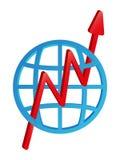 freccia di statistiche 3D che va su Fotografia Stock Libera da Diritti