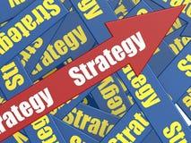 Freccia di strategia Immagini Stock