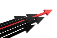 Freccia di successo Fotografia Stock
