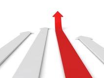 Freccia di successo in su Immagini Stock