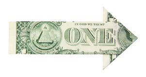 Freccia di sviluppo del dollaro Immagine Stock