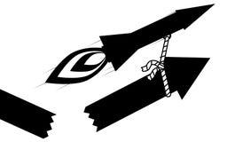 Freccia di tirata di PresentationRocket Fotografia Stock Libera da Diritti