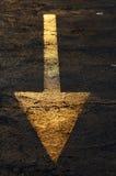 Freccia dorata Fotografia Stock