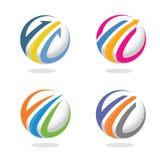 Freccia e concetto di logo di vendita di finanza Immagini Stock Libere da Diritti