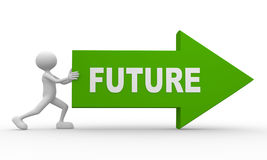 Freccia e futuro di parola illustrazione di stock