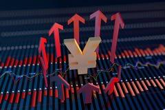 Freccia e simbolo di valuta Immagine Stock