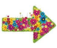 Freccia fatta dei fiori Fotografia Stock Libera da Diritti