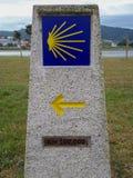 Freccia gialla a Santiago fotografia stock