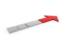 freccia grigia rossa 3d alta Fotografie Stock Libere da Diritti