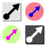 freccia Icona piana di vettore illustrazione di stock