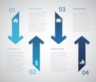 Freccia Infographic Fotografia Stock