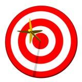 Freccia nel Bullseye dell'obiettivo Fotografie Stock