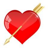 Freccia nel cuore Fotografie Stock Libere da Diritti