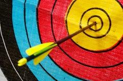 Freccia nell'obiettivo Fotografia Stock