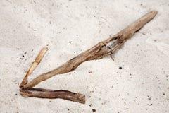 Freccia nella sabbia Fotografie Stock Libere da Diritti