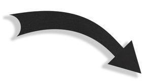Freccia nera fotografia stock