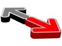 Freccia opposta illustrazione vettoriale