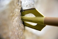 Freccia in roccia Immagine Stock