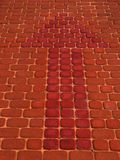Freccia rossa Fotografia Stock