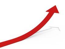freccia rossa 3d alta Fotografie Stock Libere da Diritti