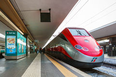Freccia Rossa bullet train 300 km/h. Stock Photography
