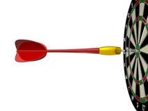 Freccia rossa con il bordo di dardo Immagine Stock