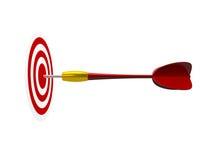 Freccia rossa con l'obiettivo Immagini Stock