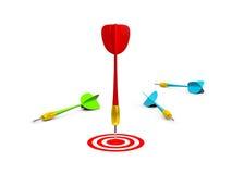 Freccia rossa con l'obiettivo Fotografia Stock Libera da Diritti