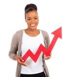 Freccia rossa di crescita Immagini Stock Libere da Diritti