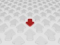 Freccia rossa differente illustrazione vettoriale