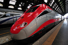 The Freccia Rossa train in Milan station Stock Image