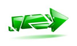 Freccia rotta 3D di vettore Immagine Stock